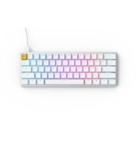 Glorious PC Gaming Race GMMK Compact White Ice Edition klaviatūra ar maināmām pogām   Gateron Brown US