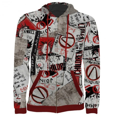 """Borderlands """"Propaganda"""" džemperis ar rāvējslēdzēju   XL izmērs"""