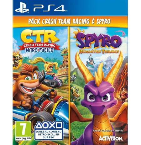 Crash Team Racing Nitro-Fueled + Spyro Reignited Trilogy Double Pack