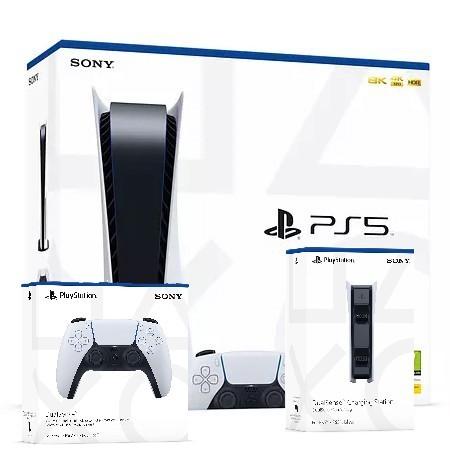 PlayStation 5 žaidimų konsolė 825GB (PS5) +valdiklis +kroviklis + žaidimas
