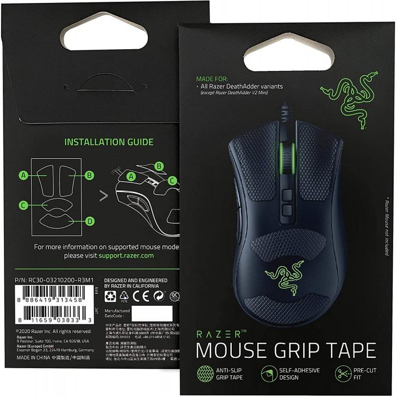 Razer Mouse Grip Tape for Razer DeathAdder V2   Melns