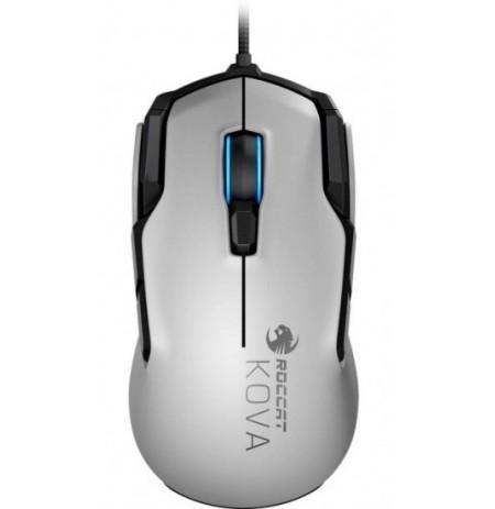 Roccat Kova AIMO Проводная игровая мышь с RGB-подсветкой белого цвета с двусторонним управлением