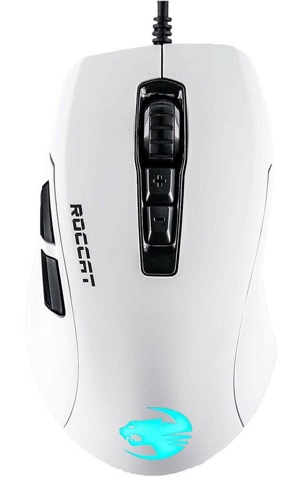 Roccat Kone Pure Ultra AIMO balta vadu RGB spēļu pele