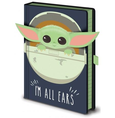 Star Wars: The Mandalorian (I'm All Ears Crib) A5 piezīmju grāmatiņa