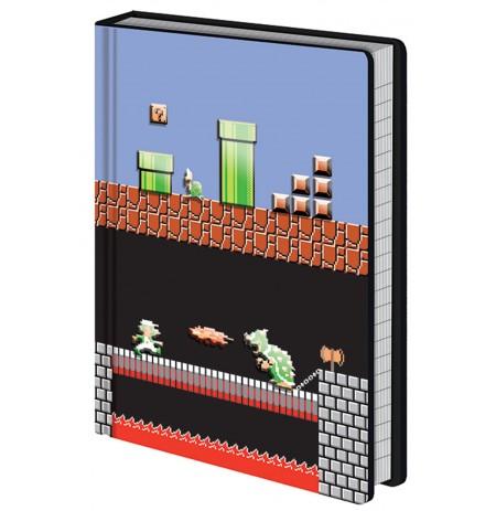 Super Mario Bros (Level Builder) A5 piezīmju grāmatiņa