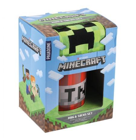 Minecraft кружка и носки подарочный набор