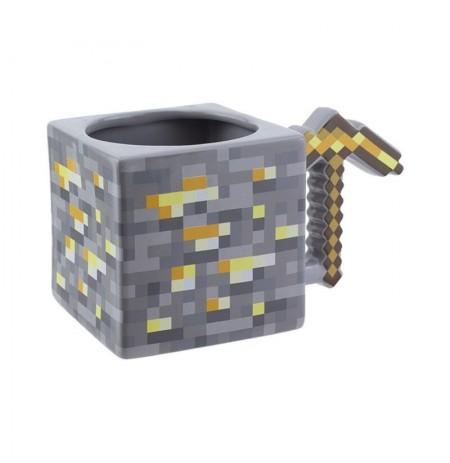 Minecraft Gold Pickaxe 3D krūze