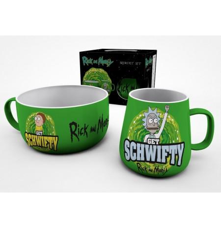 RICK AND MORTY Get Schwifty brokastu krūžu komplekts