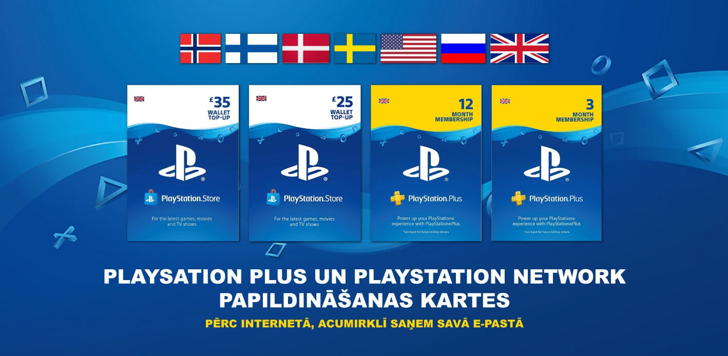 PSN and PS+ cards